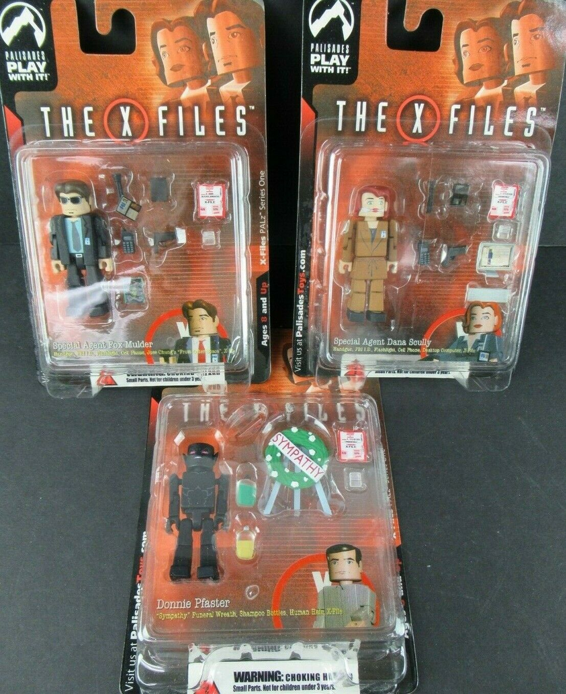 PALISADES XFILES PALZ SERIES I SCULLY, MULDER, PFASTER 2005 nuovo ON autoDS