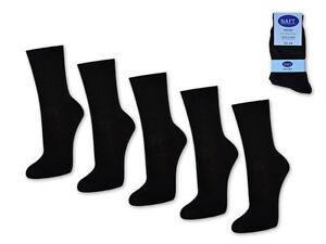 6-42-Calcetines-de-Dama-Par-100-Algodon-Mujer-Vestir-Negro-Blanco-Beige