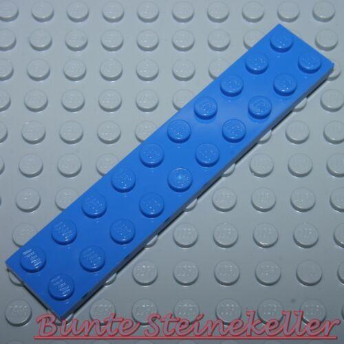 4 Stück blaue 1/3 Steine BAUPLATTEN 2x10 PLATTEN 3832 blau & unbespielt BB01