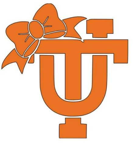 Tennessee Vols With Bow Decal Sticker Car Truck Window Bumper Laptop