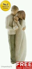 WILLOW TREE FIGURINE HOME DECOR ROOM NEW DAD MOM BABY MOTHERS DAY OUR GIFT WIFE