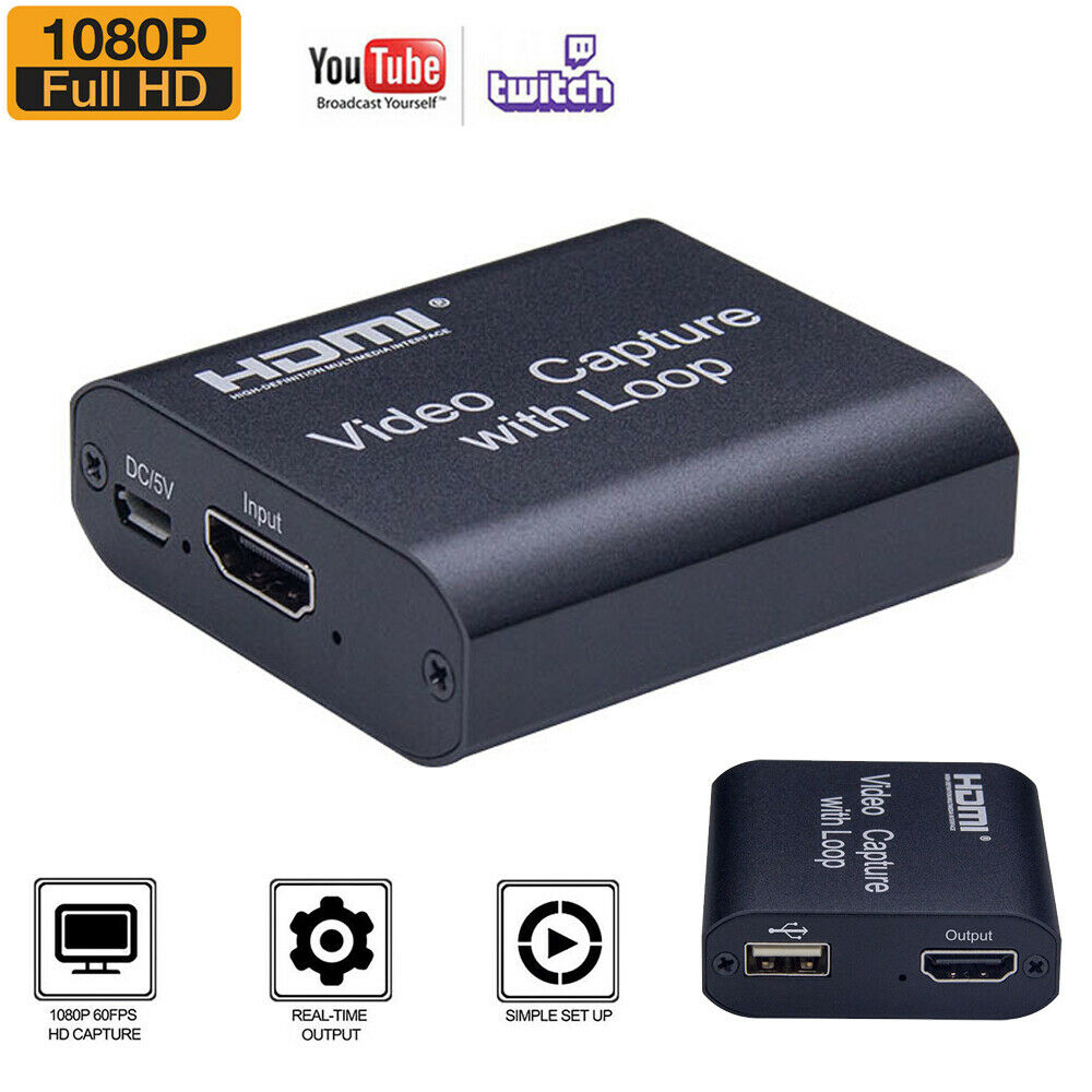 HDMI Video Capture Card Screen Record USB 2.0 1080P Game Capture Streamer Device 1080p capture card game hdmi record screen streamer usb video