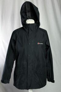Berghaus GORE-TEX Performance Shell Manteau de pluie Taille 8 Noir Camping Randonnée!