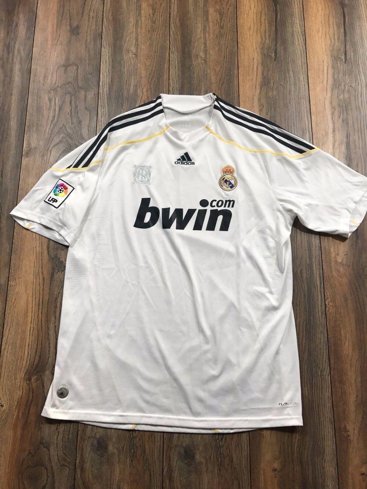 cf9de4e0adc RARE Adidas White Vtg Real Madrid Spain Era Formotion Shirt Match Jersey XL