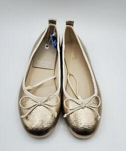 Gold Ballet Flats Size 2K US / 33 EU