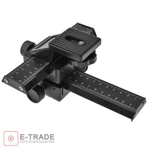 Black 4 Way Macro Shot Focusing Rail Metal Slider for Nikon Peantax DSLR Camera