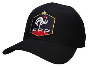 Image is loading World-Cup-French-Federation-Football-Baseball-Cap-Black- 329b703d4ae