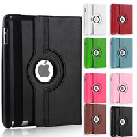 New 360 Degree Rotating Leather Smart Stand Case Cover for iPad 2 iPad 3 iPad 4