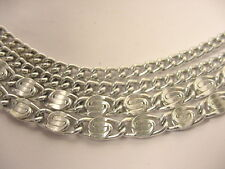 VINTAGE SARAH COVENTRY SILVER ALUMINUM 4 STRAND UNIQUE CHAIN NECKLACE 24 ½""