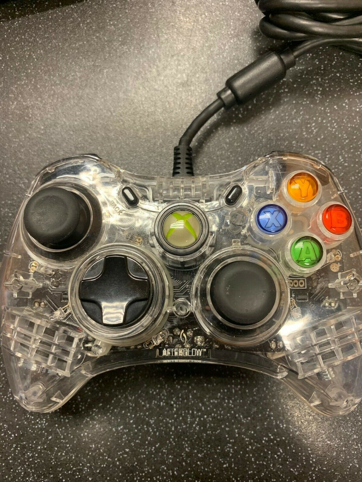 (NE6) Wired Afterglow Controller For Xbox 360 Or PC Untested No Breakaway Cable.