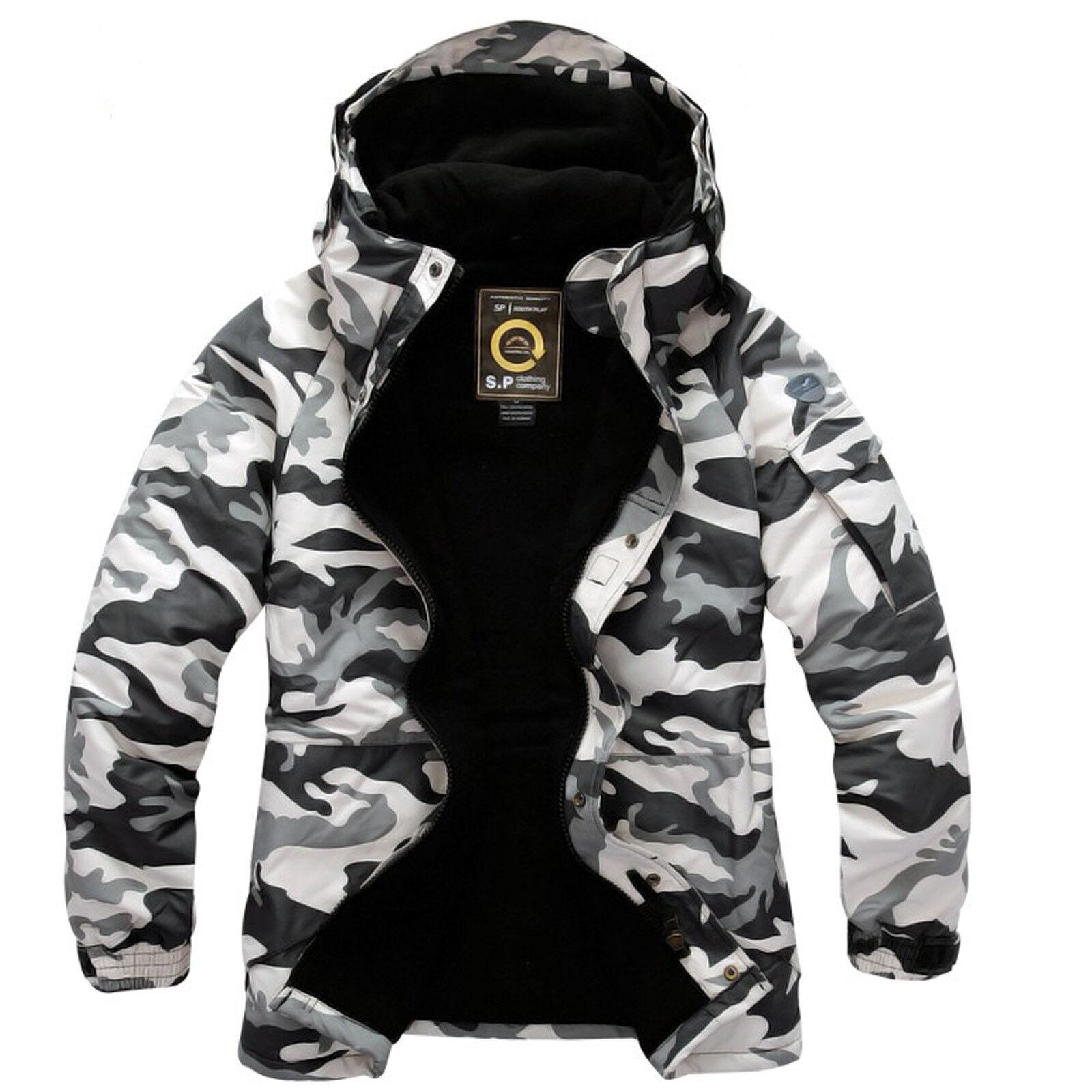 2019 Southplay Herren Military Look Wasserdichte Ski-Snowboard Jacke - Camo Ivor
