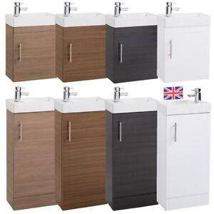 Bathroom Cloakroom Compact Vanity Unit /& Basin Sink 400mm Wall Hung /& Floor