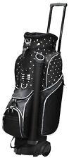 RJ Ladies Spinner Cart Bag Black Polka Dot