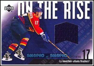 UPPER-DECK-2002-ILYA-KOVALCHUK-ATLANTA-THRASHERS-ON-THE-RISE-GAME-JERSEY-ORIK
