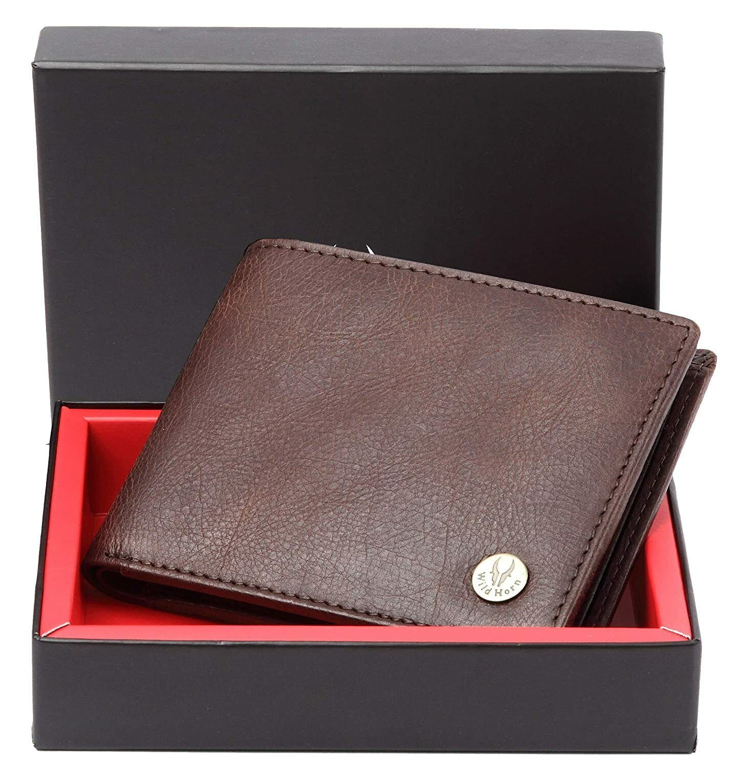 Best RFID Protected Men's Genuine Leather Wallet for men's Brown fast shipping