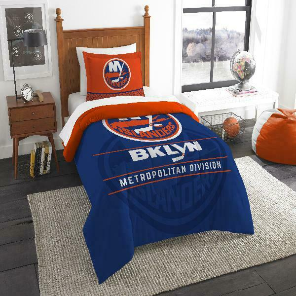 New York Islanders The Northwest Company NHL Draft Comforter Set Multiple Dimensiones