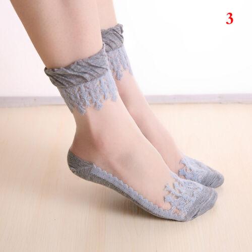 Frauen Socken Netzsocken Spitze Söckchen Ultradünne Erwachsene 4 Farben/_