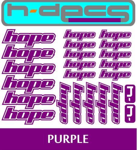 Hope T2 Die-cut decal sheet. stickers, cycling, mtb, bmx, road, bike