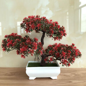 Fake Artificial Plants Bonsai Potted Plants Mini Simulation Pine Tree Home Decor Ebay