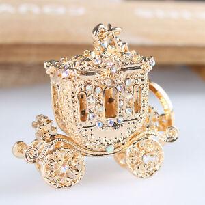 Wedding-Royal-Carriage-Crystal-Charm-Pendant-Purse-Bag-Key-Chain-Christmas-Gift
