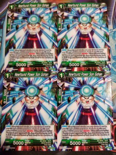 Newfound Power Son Gohan 4x BT4-048 UC Dragon Ball Super PLAYSET