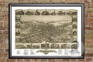Vintage Vineland Nj Map 1885 Historic New Jersey Art Old