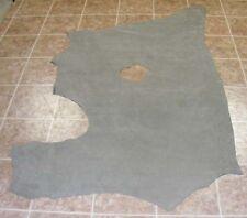 (NHE4668) Blue Grey Nubuck Cow Side Leather Hide Skin