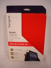 TARGUS VERSAVU CLASSIC TABLET CASE FOR iPAD AIR 1 & 2 360° ROTATING RED