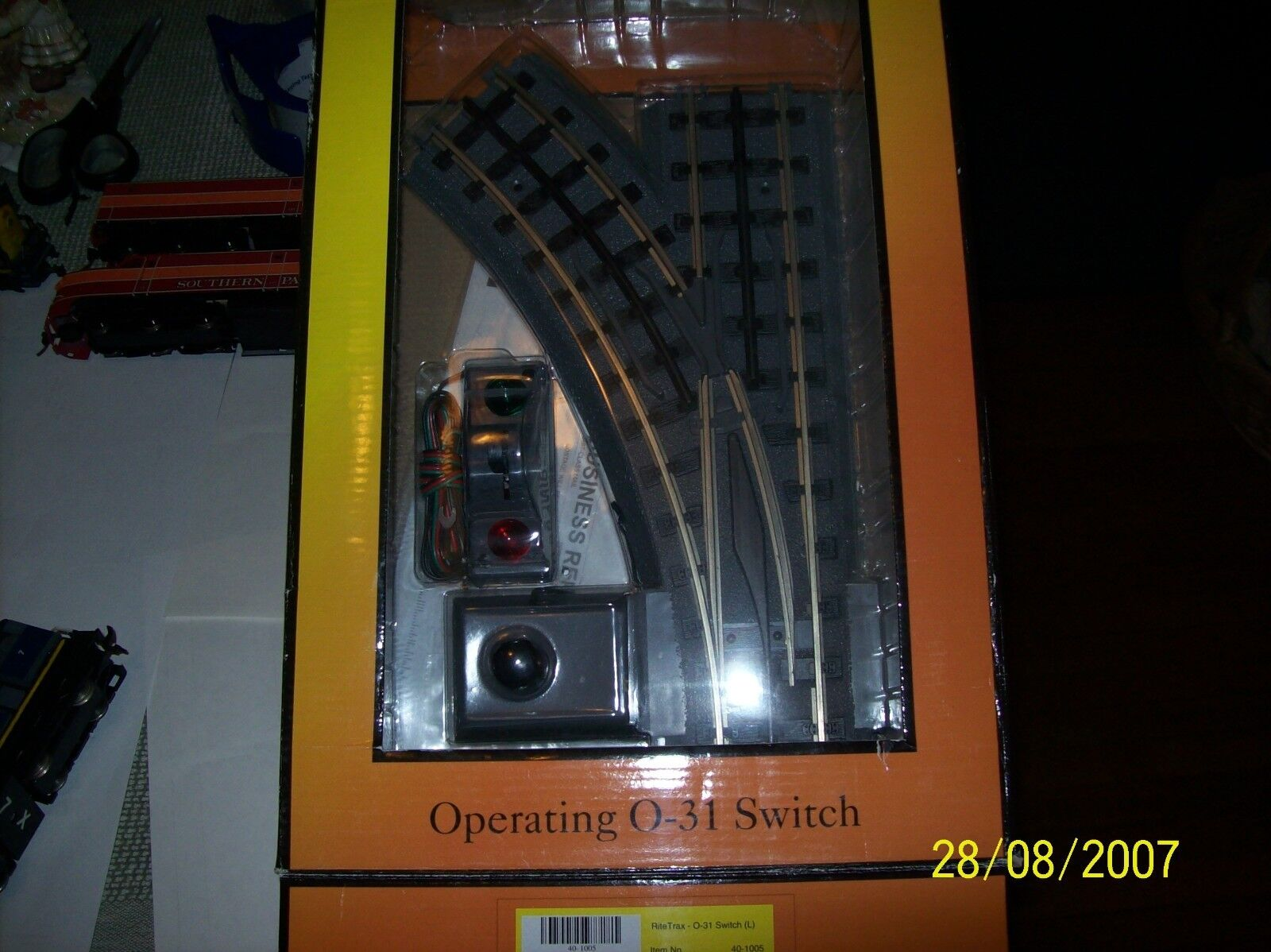 MTH RITETRAX REMOTE SWITCHE  ONE LEFT O-31