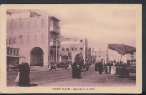 Egypt-Postcard-Port-Said-Quartier-Arabe-RS8970