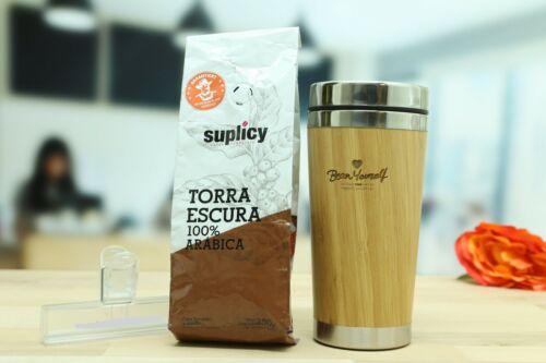 "Entdecker-Set ""Helena"", 250 Gr. Kaffee, Trinkbecher, Clip, coffee, drinking cup"