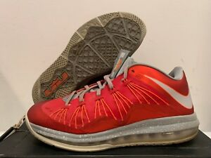 newest f23ca 8a254 Details about Nike Air Max Lebron X Low Ohio State Size 9 (Offer)