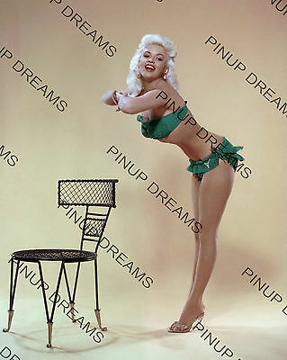 "Vintage 10"" x 8"" reprint Photo of Pin-up Movie Star Jayne Mansfield in Bikini"