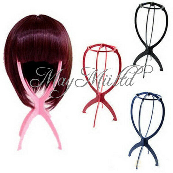 Folding Plastic Stable Durable Wig Hair Hat Cap Holder Stand Display Tool JC