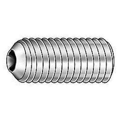 1//2-13 x 3//4 Coarse Thread Socket Set Screw Cup Point Alloy Steel Black Oxide Pk 25