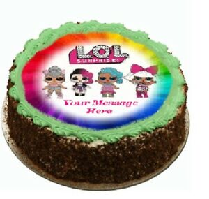 Lol Surprise Cake Topper Edible Icing Birthday Party Real Fondant Ebay