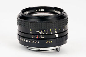 Rikenon-XR-Ricoh-50mm-50-mm-1-1-4-1-4-Lens-Pentax-PK