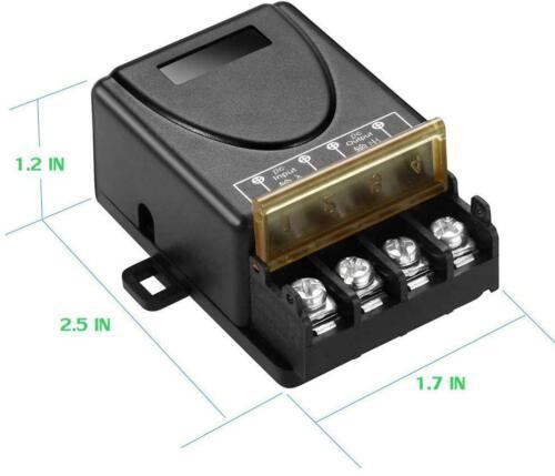 QOFOWIN Wireless Remote Switch,with 984FT Long Range,DC12V//24V//48V//72V RF Remote