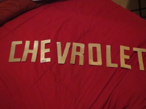 1966 CHEVROLET TRUCK FLEETSIDE TAILGATE LETTERS DECALS SET CHROME 1958