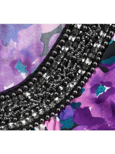 Grace Embellished Sleeve Swing Tunic  20 purple//Multi