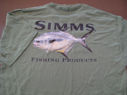 Vintage Simms Fishing Products Mike Stidham T-shirt Taille L