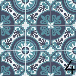 Carrelage Azulejos Par 9 8x9 8 Cm 9 Designs Autocollant Set 36 Stickers Design 4 Ebay