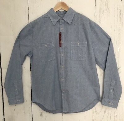 Merona Men/'s Dark Blue Oxford Button Up Long Sleeve Shirt NWT Size Small or XXL