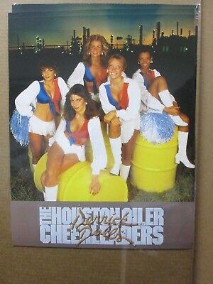 The Houston oiler cheerleaders Derrick Dolls car garage vintage poster #G2019
