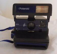 Polaroid 636 Black/Blue Color Model Instant One Step Camera W/ Strap Brand New