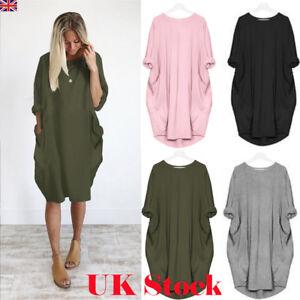 Womens-Long-Sleeve-Hoodie-Loose-Baggy-Tops-Jumper-Dress-Pullover-Winter-UK