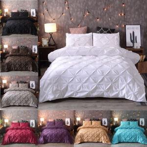 Queen-Full-King-Pintuck-Rapport-Duvet-Cover-Sets-Modern-Quilt-Cover-Pillowcase