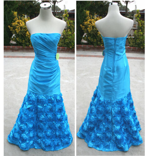 NWT MASQUERADE $190 Turquoise Formal Party Prom Gown 5