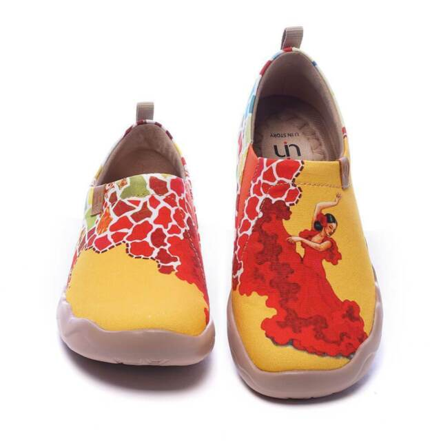 NEW UIN Art Of Walk Canvas EU 41/US 9 Viva La Vida Ladies Light Travel Shoes