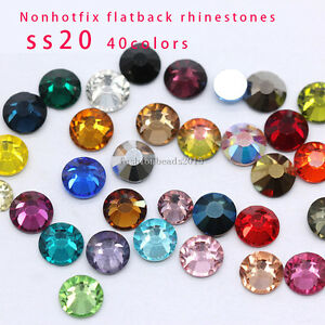 6fd4c5f25b54a Details about 720 faceted glass SS20 5MM Czech Crystal foiled Rhinestones  Flatback Non-Hotfix